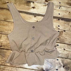 cute brown/tan cropped tank from Shein